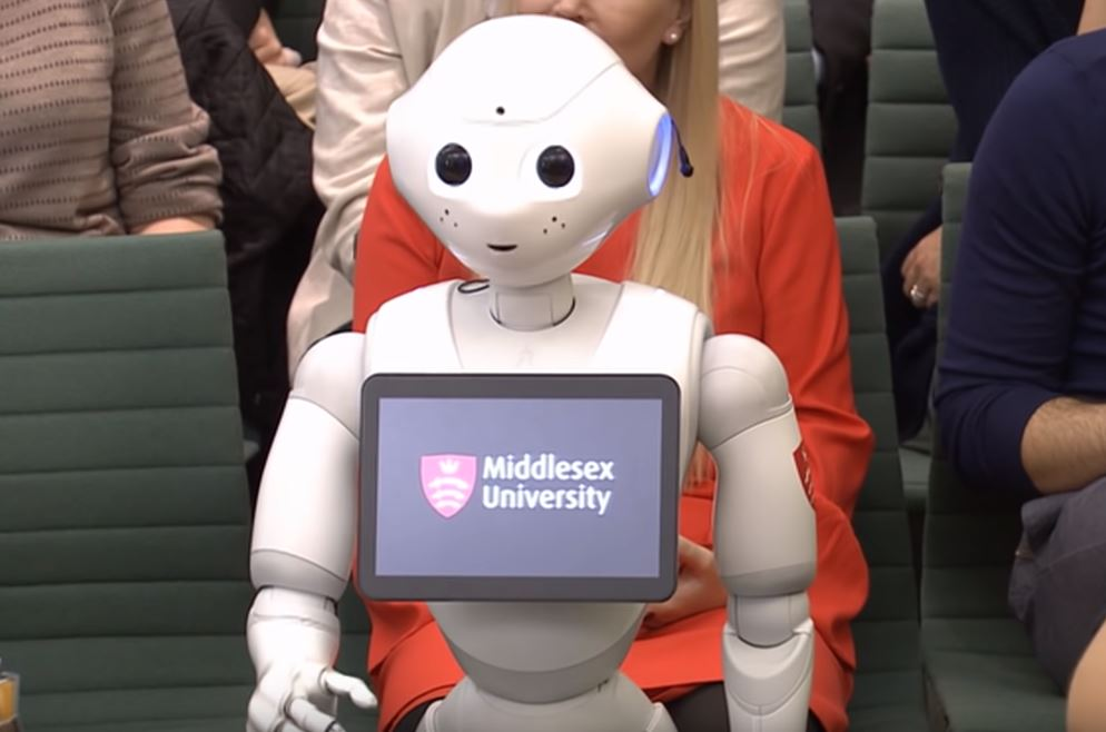 Resident robot appears in parliament to champion AI in education